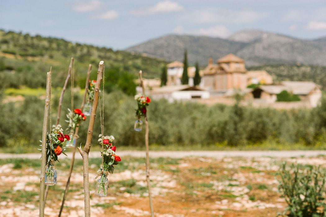 Ceremonia y flores. Valentinas