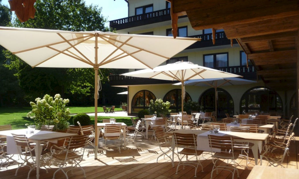 Beispiel: Terrasse, Foto: Golf Resort Achental.