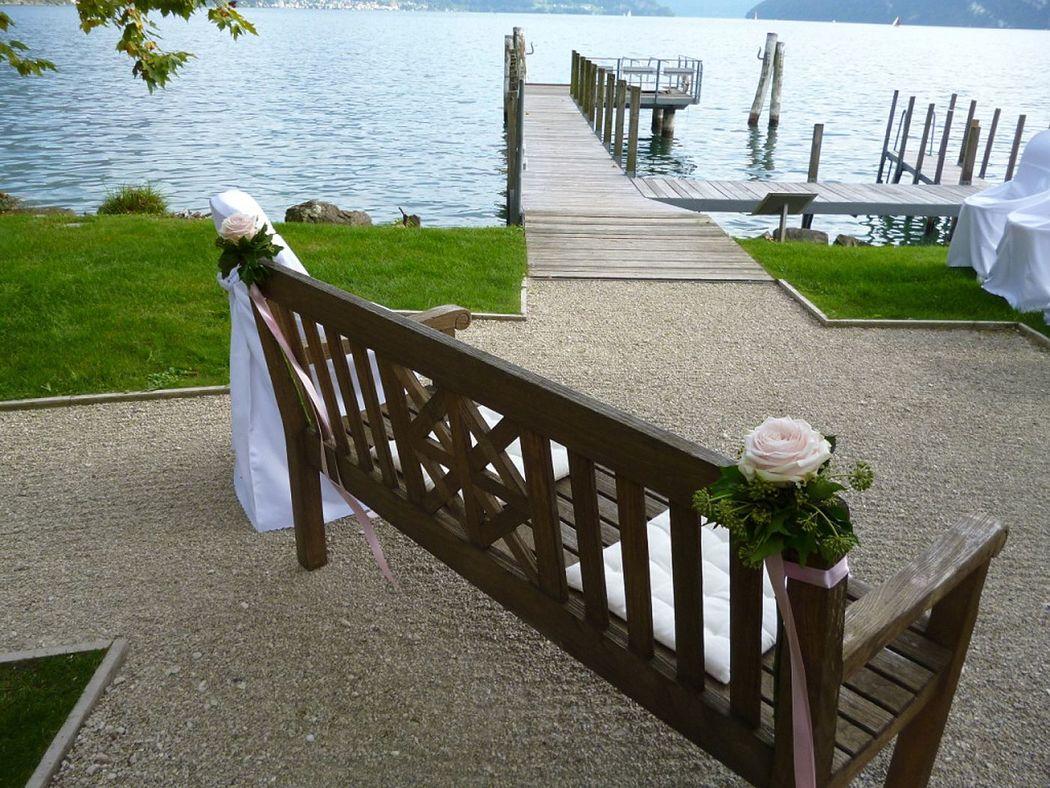 Hochzeitsbank am See, Foto: Park Weggis.