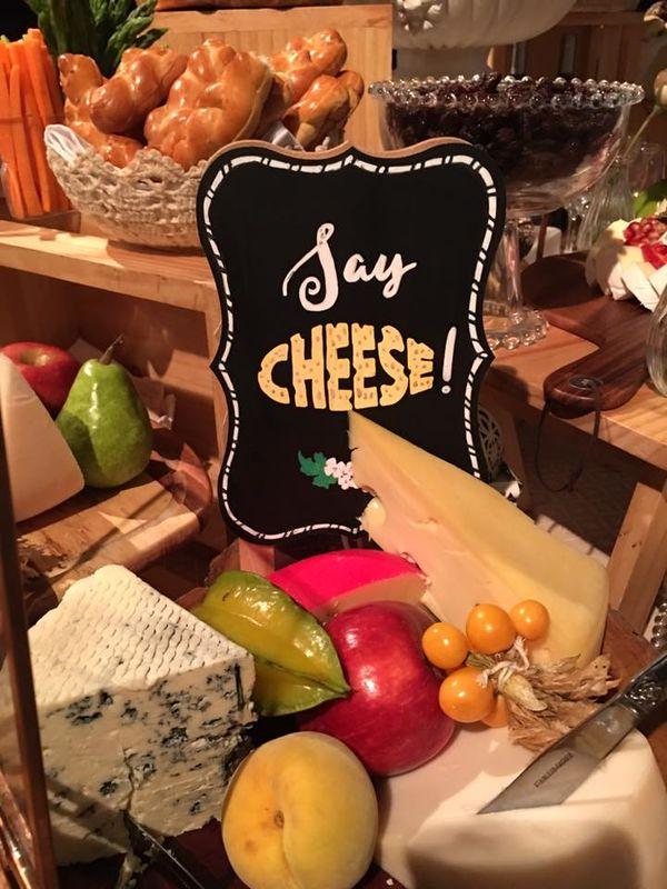 Pizarra mesa de quesos