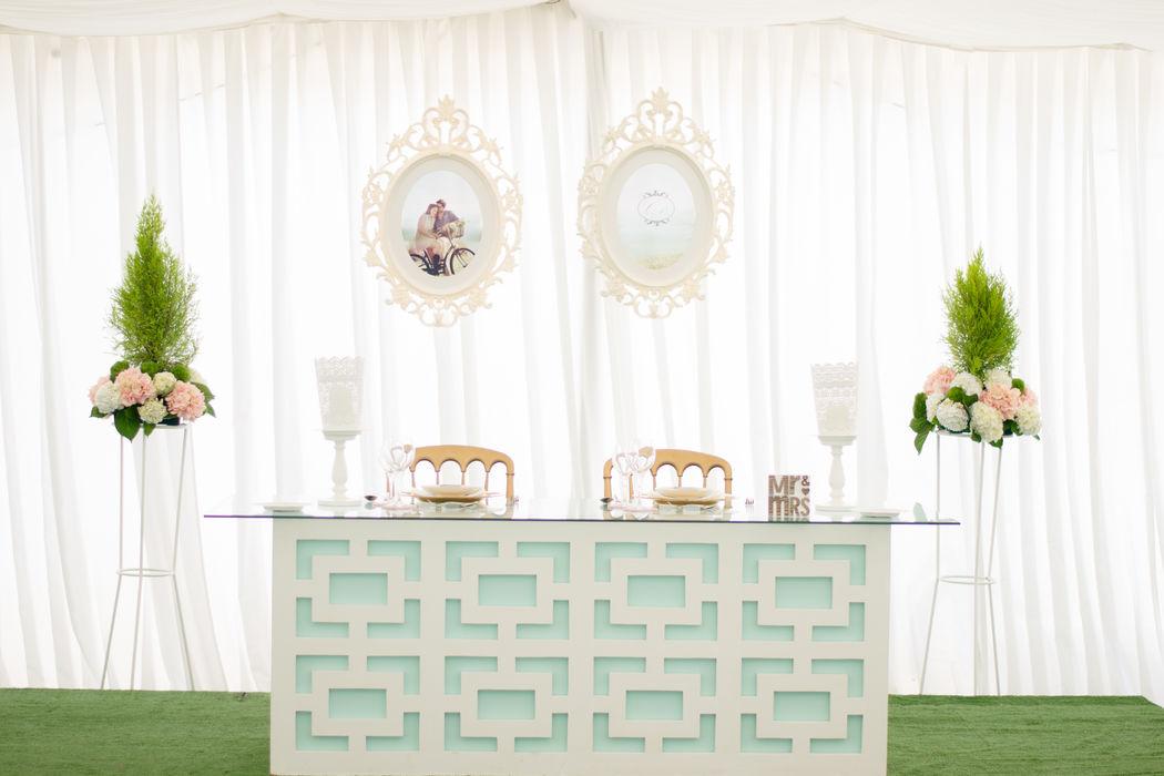 Mesa de noivos para 2