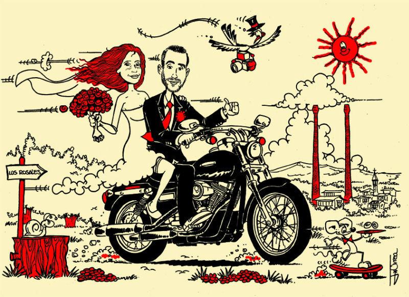 Beispiel: Ihr Hochzeitseinladung in einer oder mehreren Farben, Foto: El Coyote.