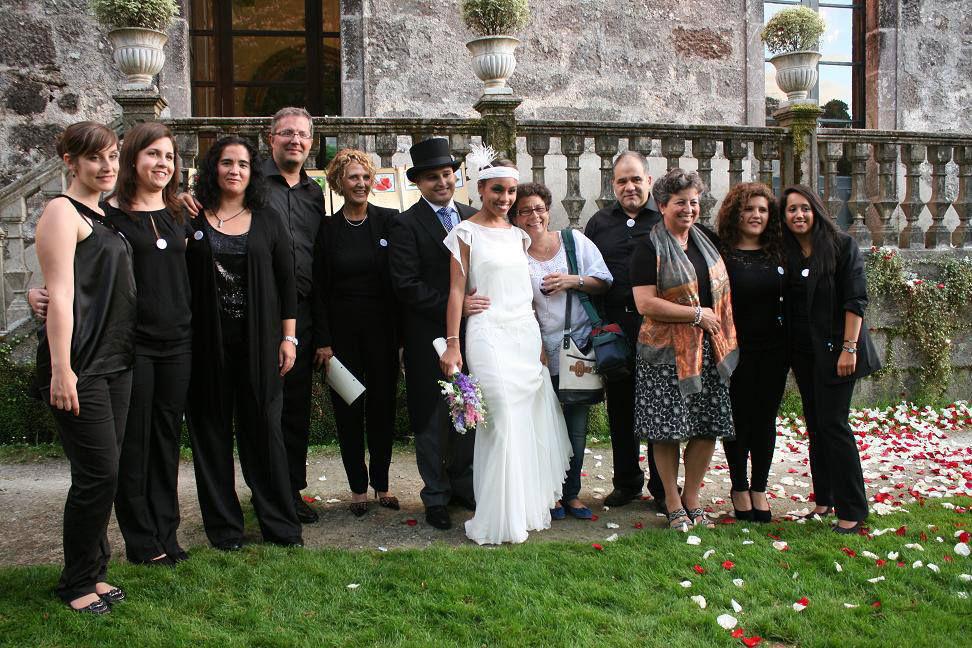 En la boda de nuestra compañera María.