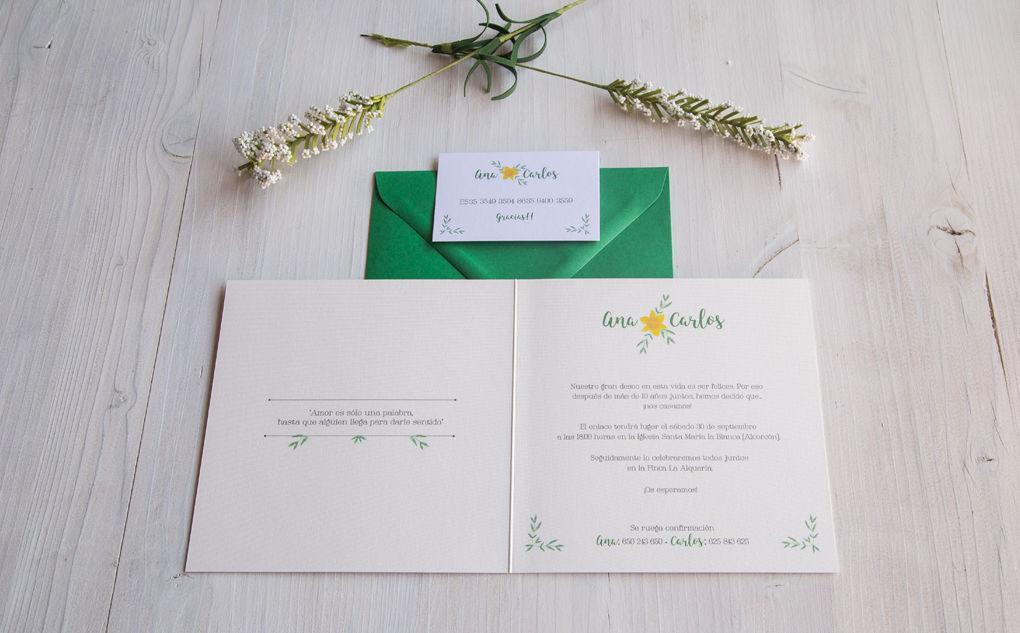 Invitación Ana y Carlos