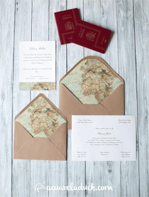 Acuarela Duck - Invitación Traveller