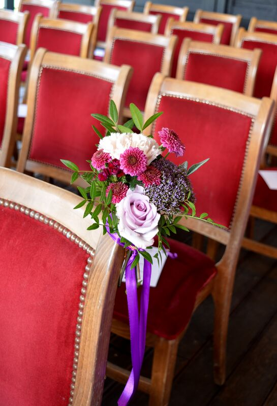 Bouquet de banc ou chaise cérémonie