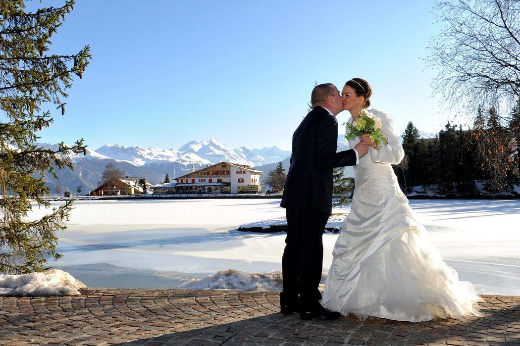 Just Married Crans Montana  - Mario Curti Photographer