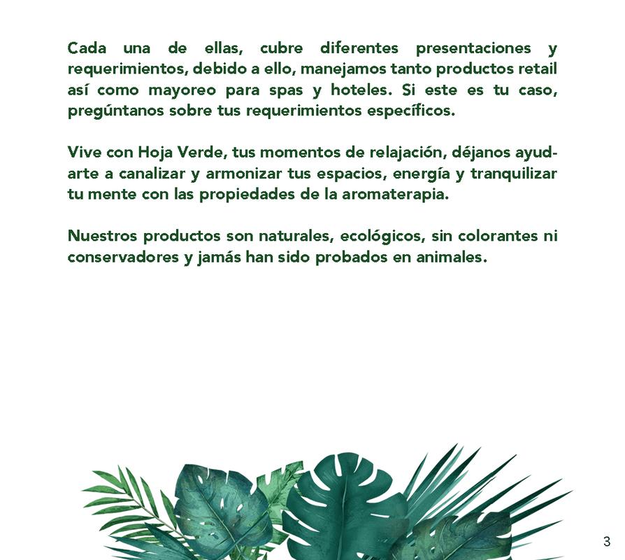 Hoja Verde, Cosmética al Natural