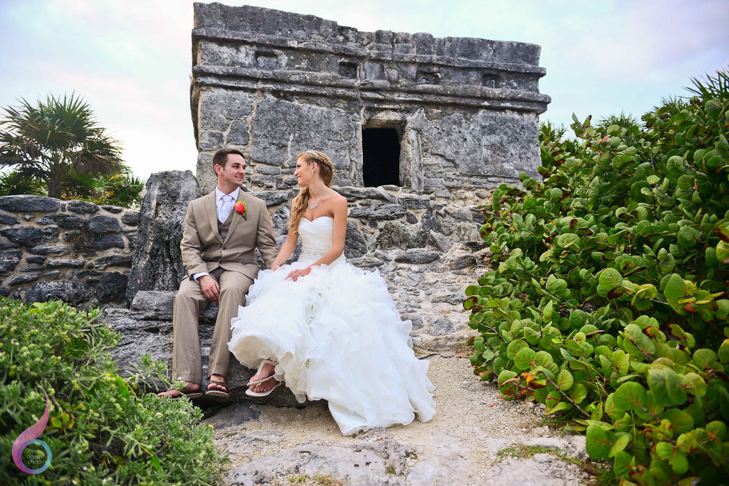 The Ocean Photo Weddings Mayan Ruins Wedding Occidental at Xcaret Destination Riviera Maya photographer