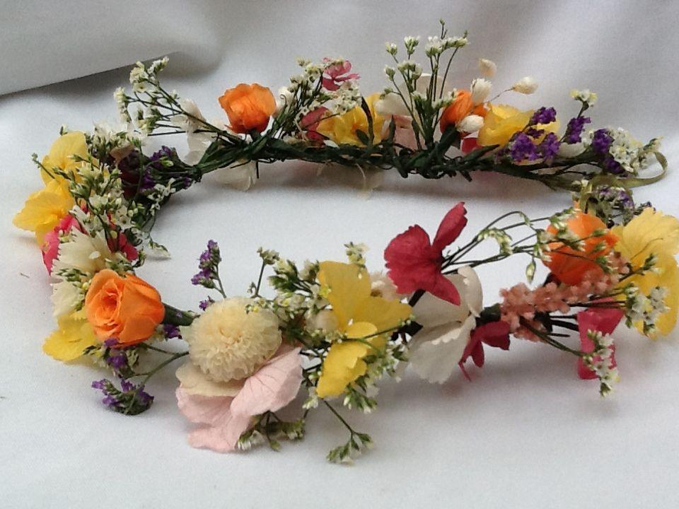 Flor de Cór - guirlanda de flores naturais preservadas e desidratadas