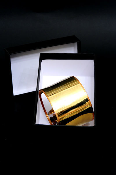 Brazaletes de Oro y Cristal. Maria Lafuente Real Fabrica de Cristales de la Granja