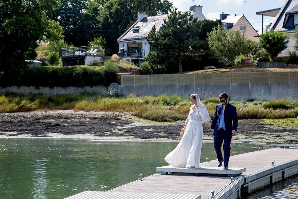 Amédézal® mariage au château de Locguenolé sortie en bateau