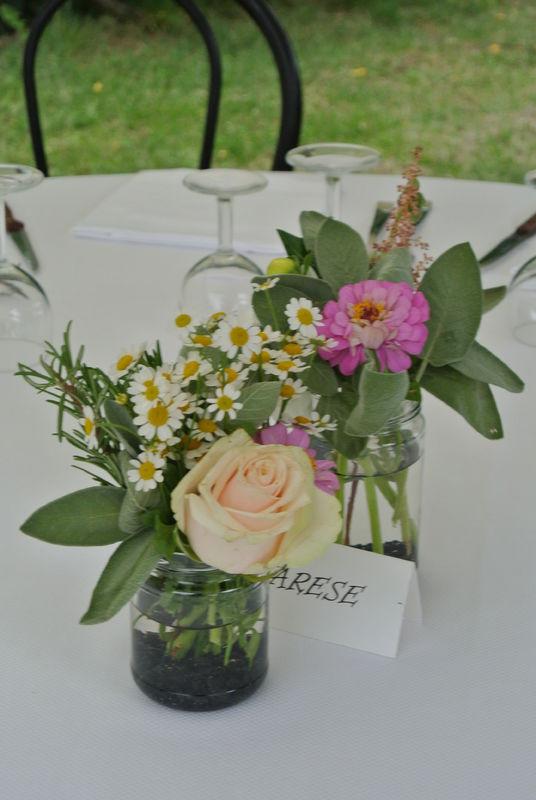Eco-country wedding - Centro tavolo
