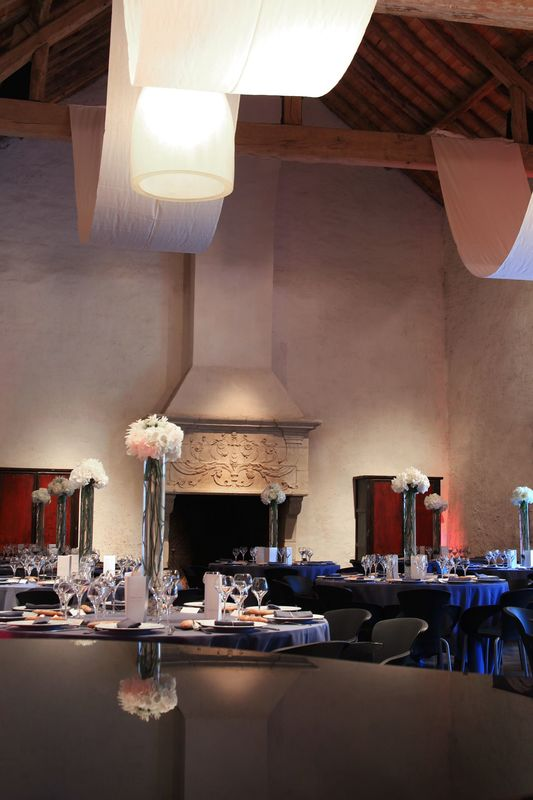 Salle Renaissance, décoration de table