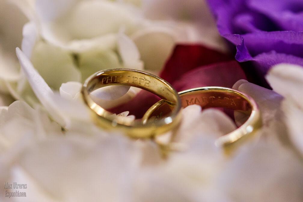Los anillos de Marta & Philippe