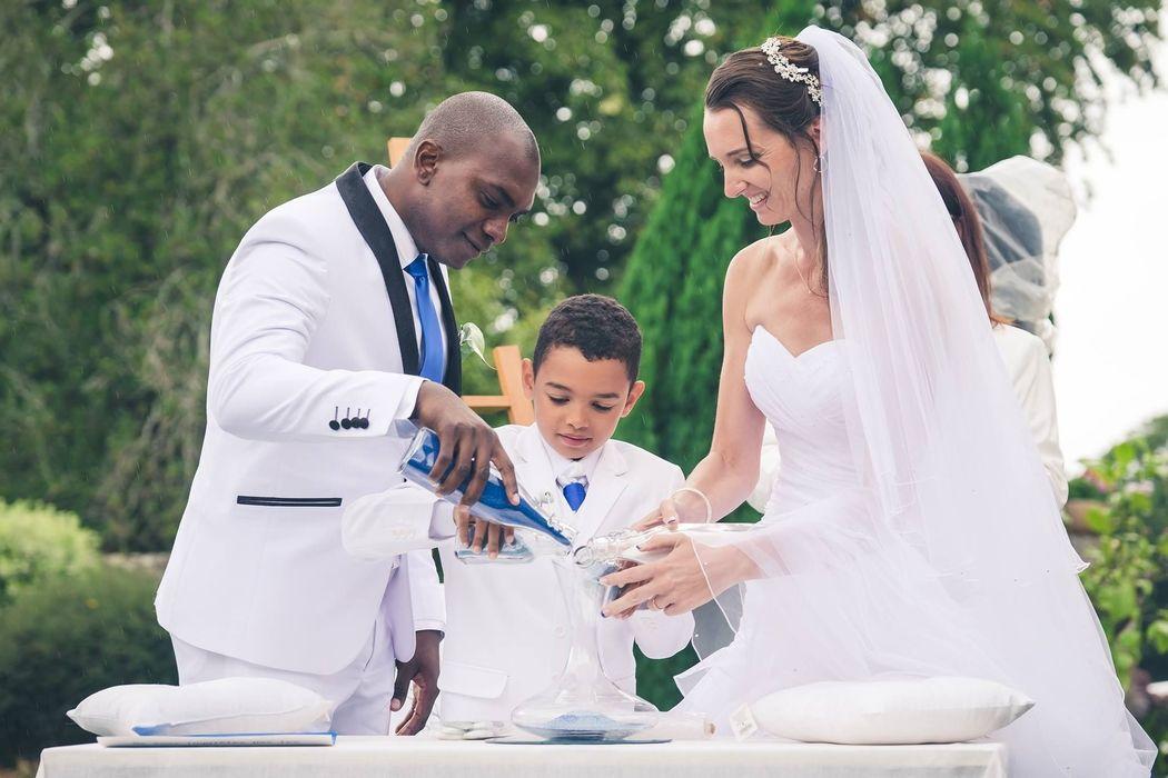 Le rituel du sable - Mariage laïque du 04.08.17