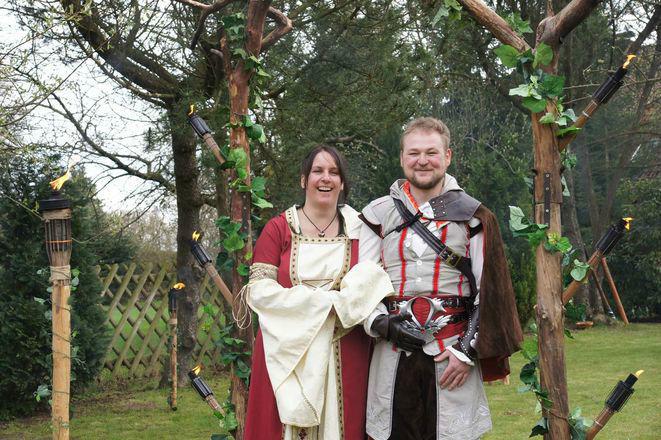 Beispiel: Spirituelle Hochzeit, Foto: Eheleite.com.