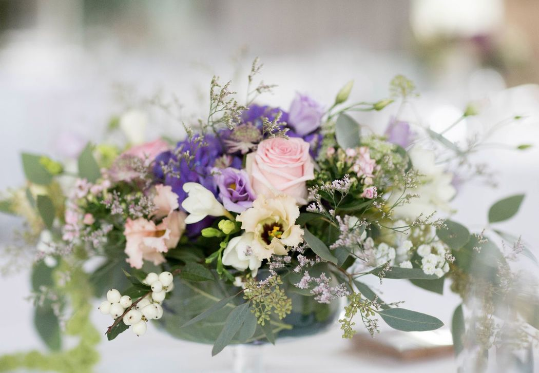 Centre de table d'honneur.  Création florale Les Fées Nature