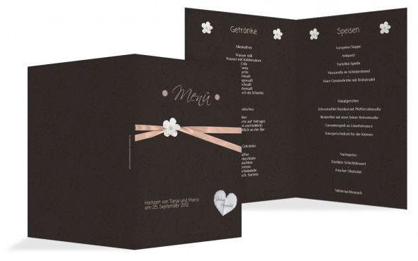 Beispiel: Menükarten, Foto: Hochzeitskarten- Paradies.