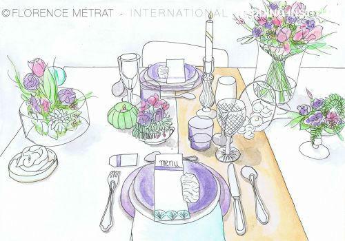 Beispiel: Entwicklung Ihrer Dekoration, Foto: International Wedding Institute.