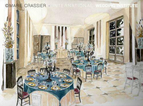 Beispiel: Hochzeitsgedeck, Foto: International Wedding Institute.