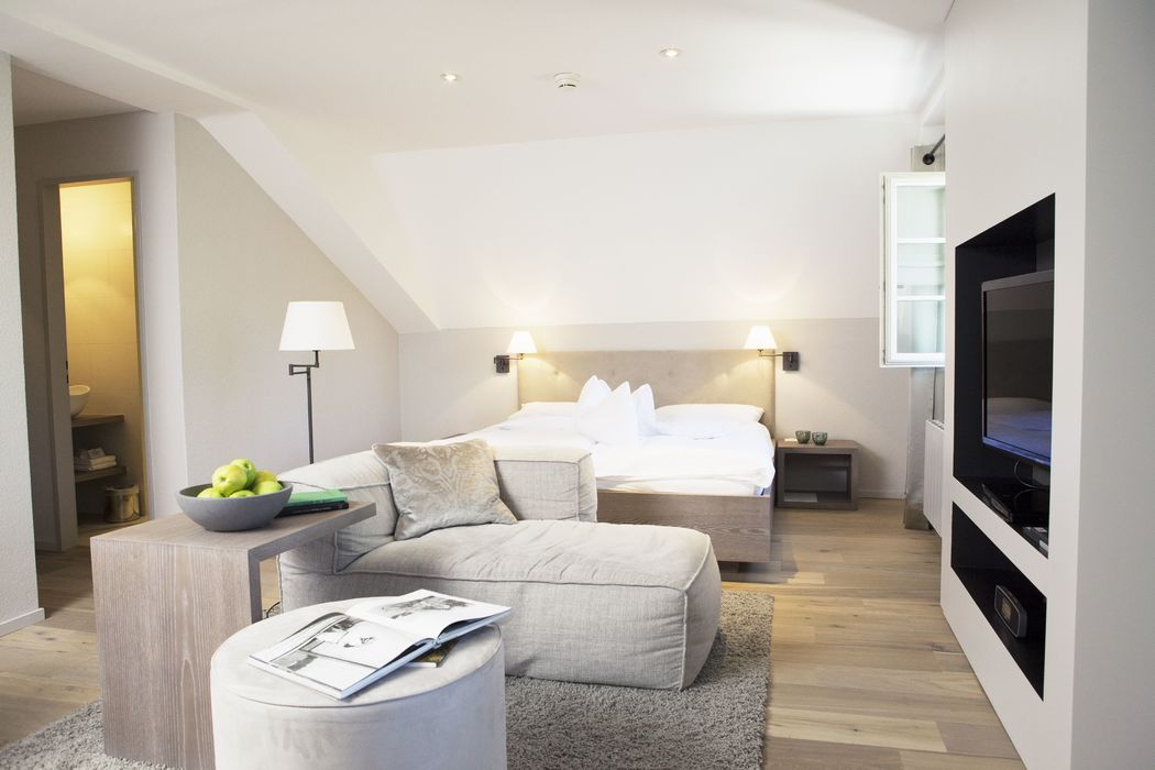 Hotelzimmer Superior Charming, Foto: Hotel Bad Bubendorf.