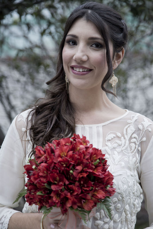 maquillaje para novia en invierno Alexandra