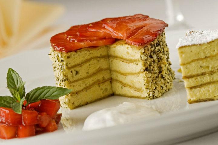Beispiel: Dessert, Foto: Schlosshotel Obermayerhofen.