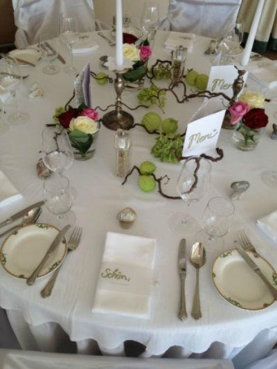 Beispiel: Hochzeitsdekoration, Foto: Hotel Schachner.