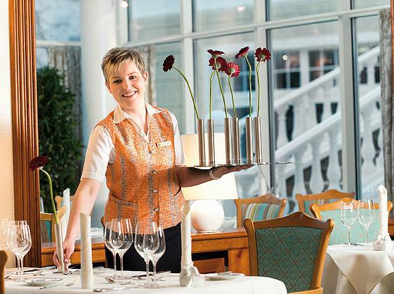 Beispiel: Service Restaurant Gardino, Foto: Travel Charme Strandidyll Heringsdorf.