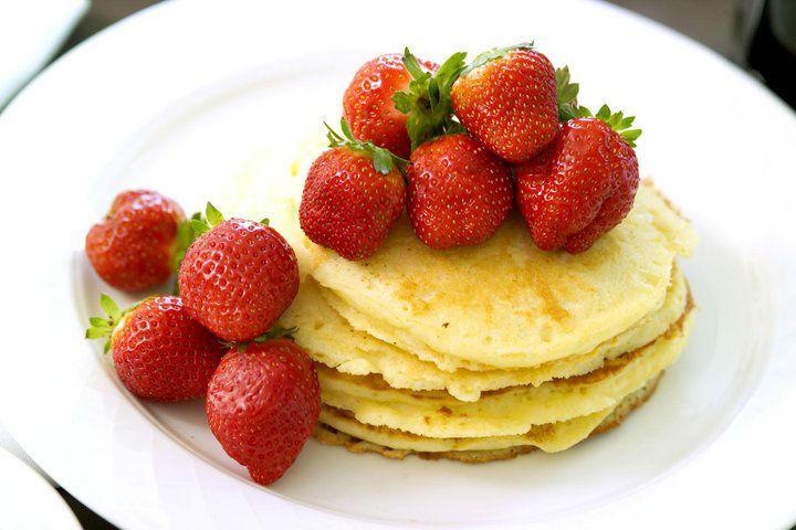 Beispiel: Pancakes mit Erdbeeren, Foto: Le Méridien Stuttgart.