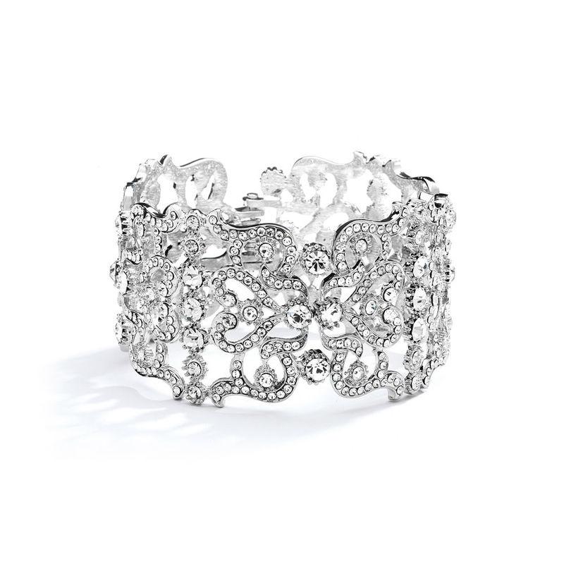 Bracelet mariage manchette cristal Brillant