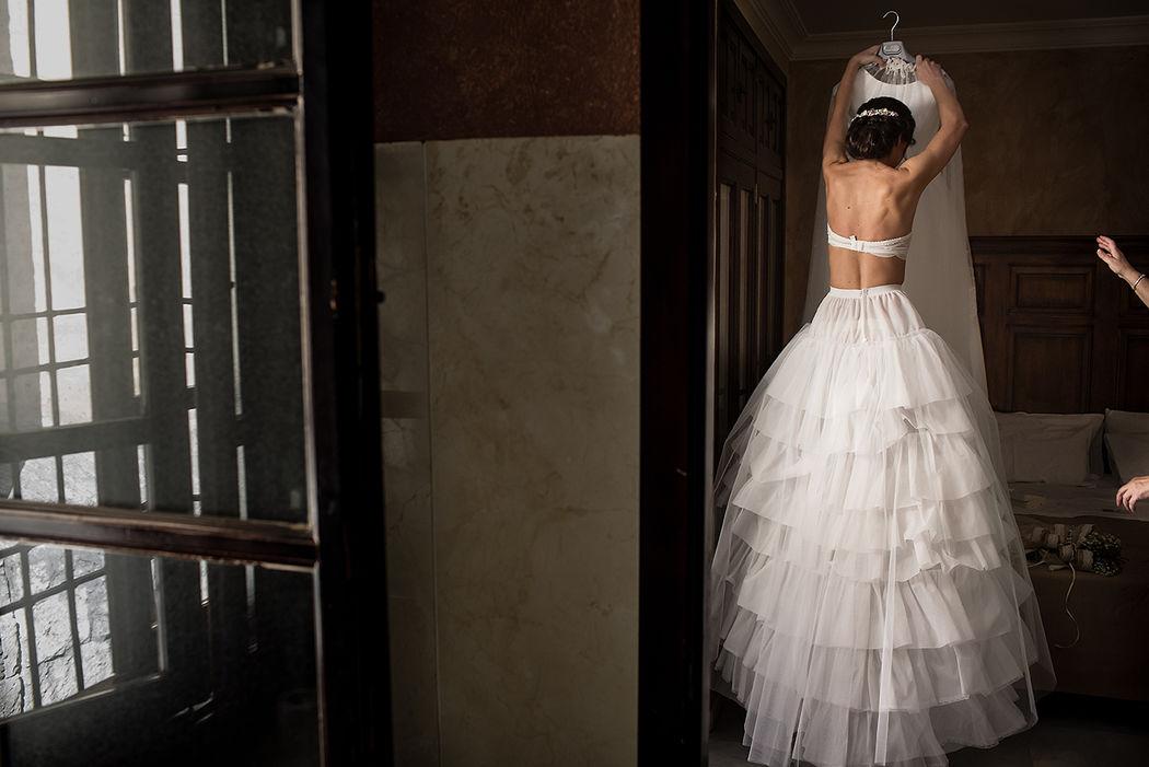 Los preparativos de la novia.