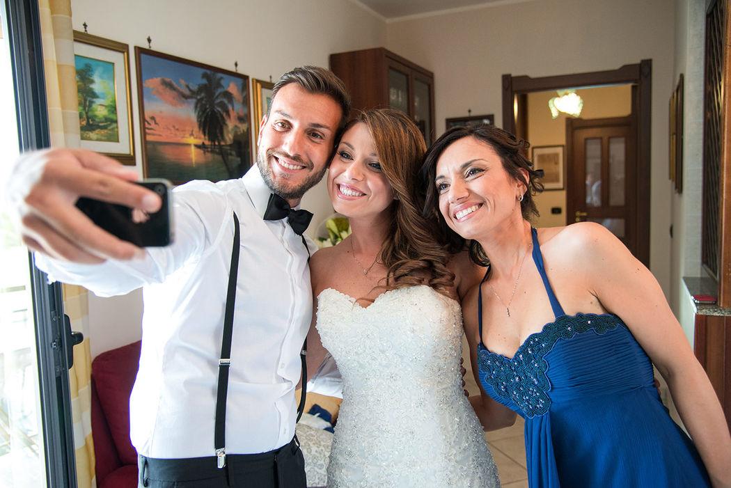 Il selfie con la sposa
