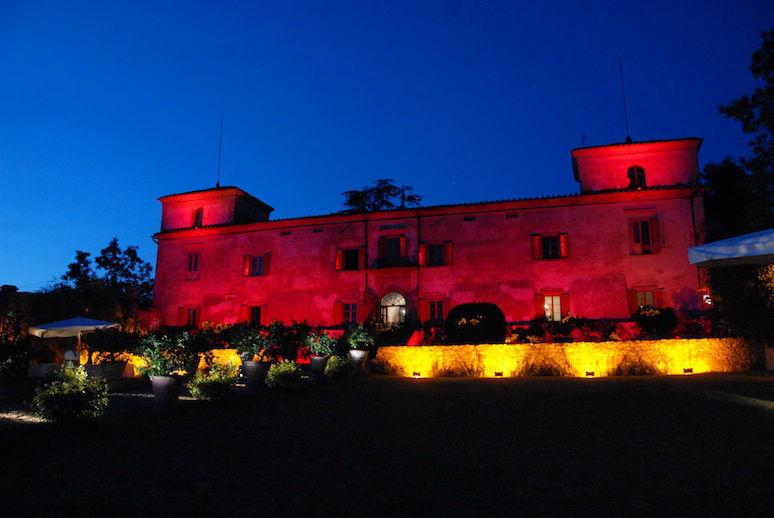 Villa Medicea di Lilliano by night