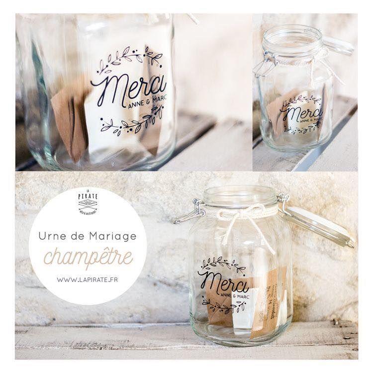 Urne de mariage champêtre ©lapirate