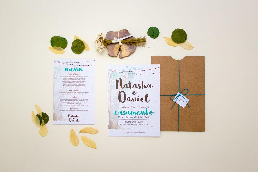 Convite Papel Semente - Natasha e Daniel