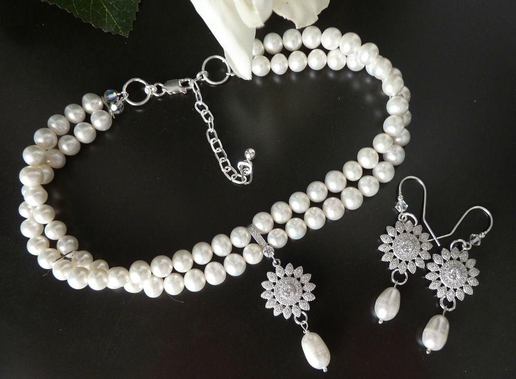 Beisliel: Perlenset mit Sterling Silber. Foto: Bigis-schatzkiste