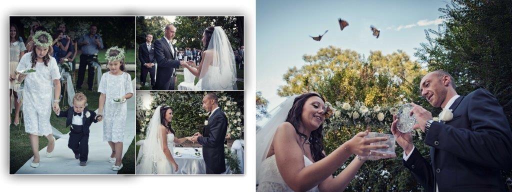 Lâcher de papillons