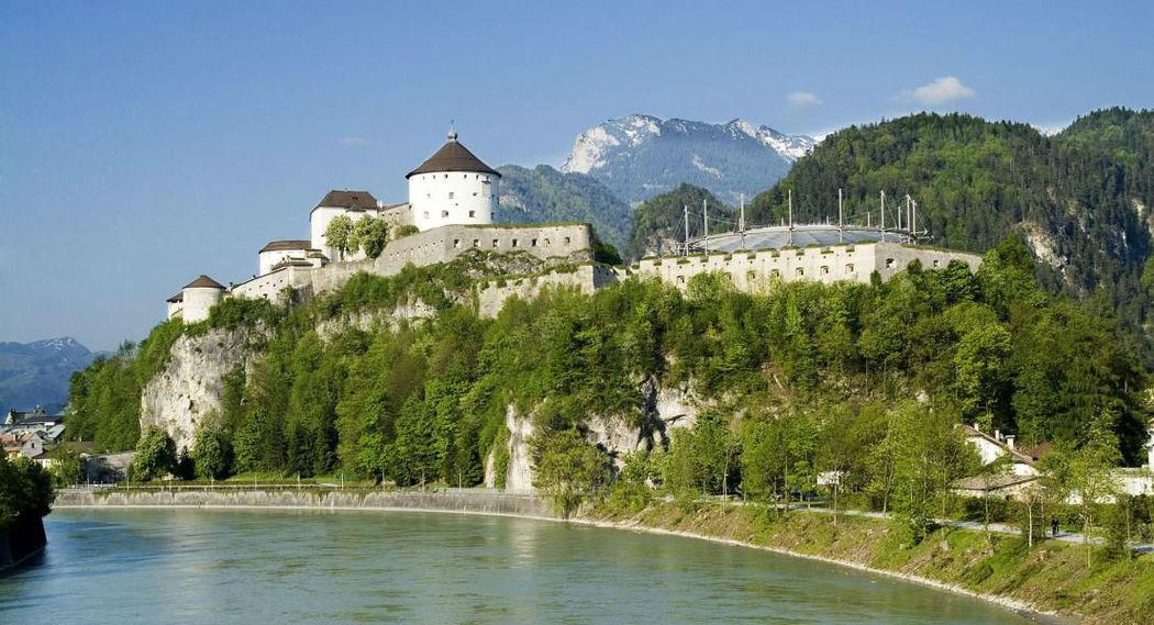 Foto:Blick auf die Festung Kufstein von der Josefsburg aus.