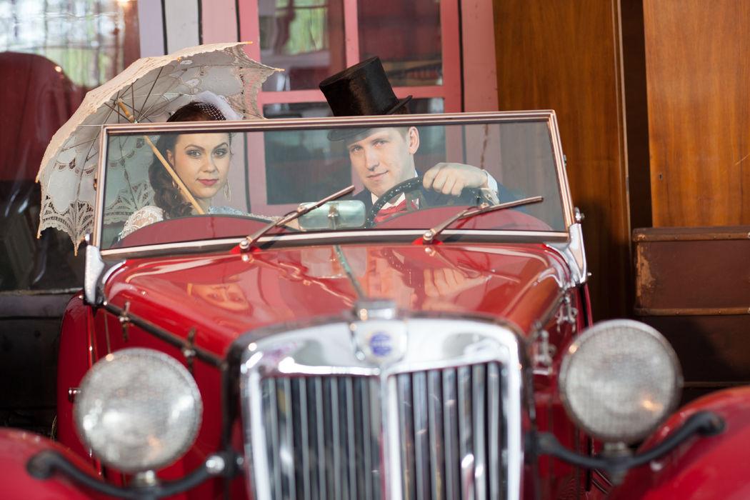 Razem w podróż poślubną w stylu retro