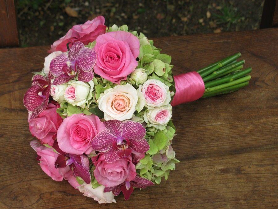 Bouquet de Noiva Rosas e Orquídeas