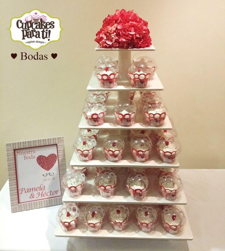 Cupcakes para ti! Torre de cupcakes para Boda