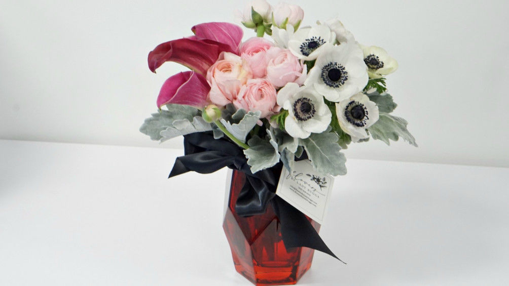 Flowers by Lady Bugs