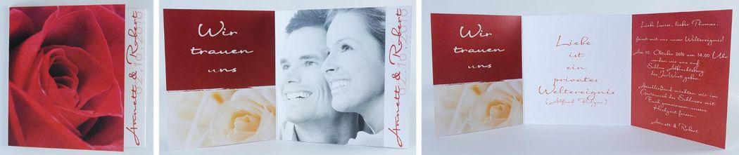 Beispiel: Einladungskarte mit Foto, Foto: cardstyle.de.