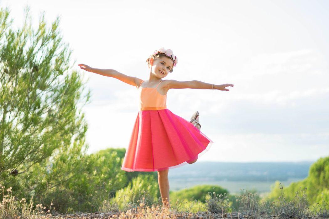 Kaa Couture modèle robe de cortège enfant BROWNIE