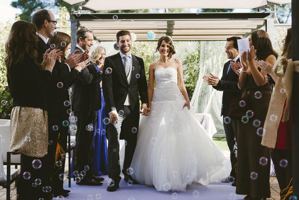 Celebración boda civil en terraza