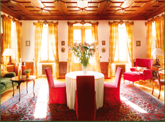 Beispiel: Eindruck von den Räumlichkeiten, Foto: Hotel Villa Solitude.