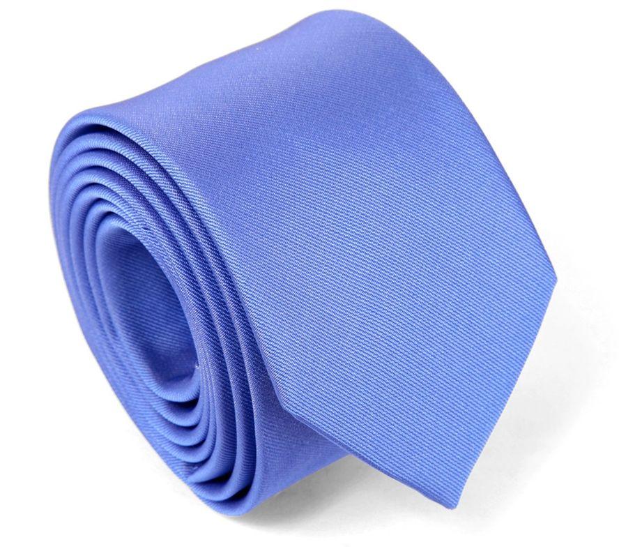 Cravate en soie bleu bleuet - Maison de la Cravate