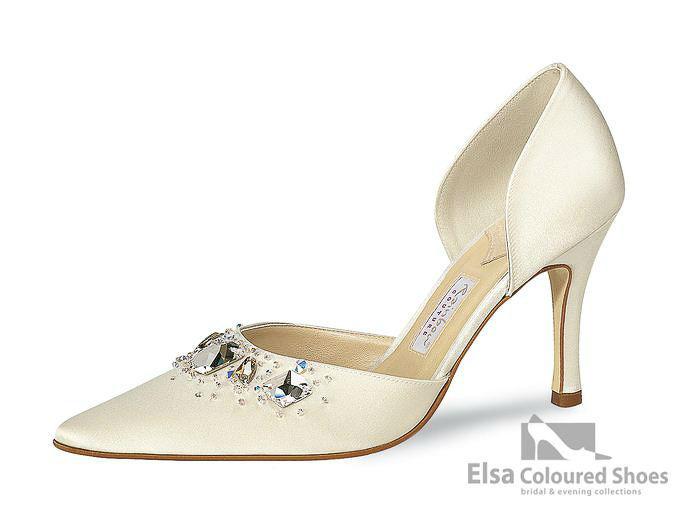 Beispiel: Eleganter Brautschuh der Marke Elsa Coloured Shoes, Foto: Edelweiss Boutique.